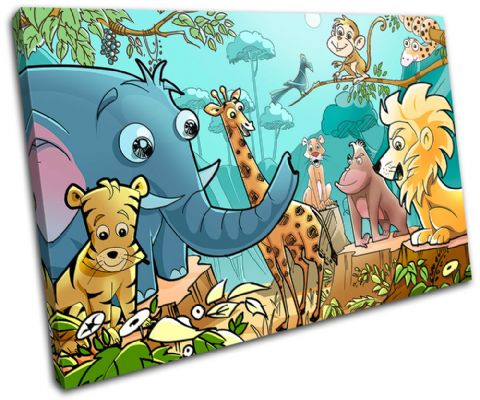 Jungle Animals For Kids Room - 13-2128(00B)-SG32-LO